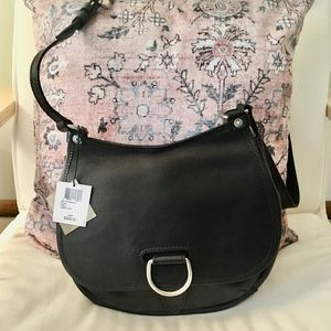 NWT Black Frye Amy Crossbody Bag